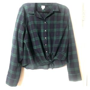 J. Crew plaid button down blouse
